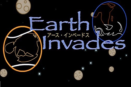 Logo for 'Earht Invades'